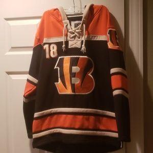 Bengals AJ Green #18 Hockey Hoodie